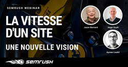 Jason Barnard, Hugo Scott and Aymen Loukil in a webinar at SEMrush